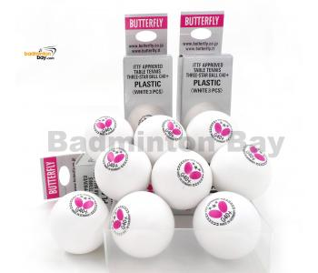 Butterfly 3-Star G40+ Made In Germany Plastic Table Tennis Ping Pong White Ball 40mm (9 Balls)