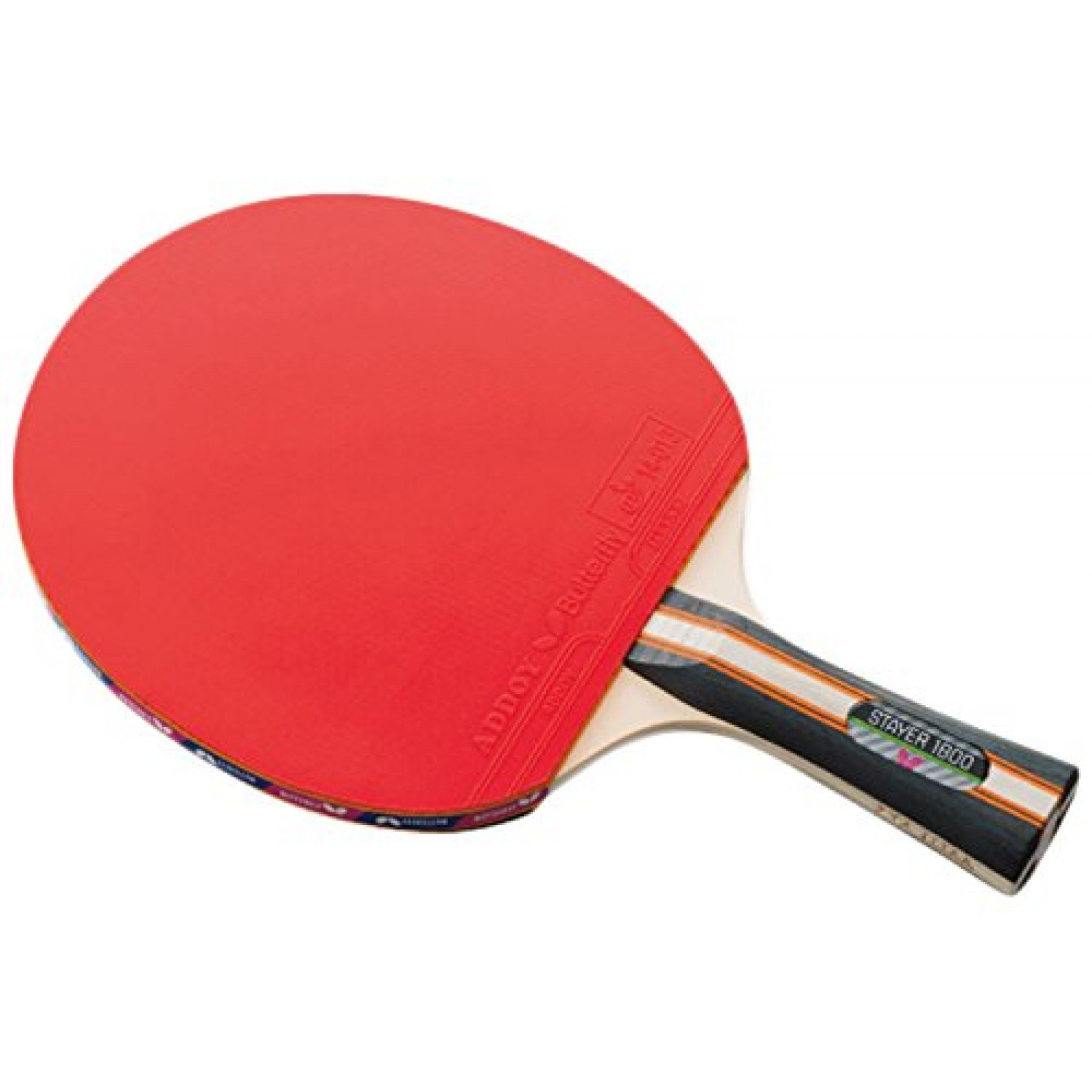 Butterfly Stayer 1800 Shakehand FL Table Tennis Racket with Rubber