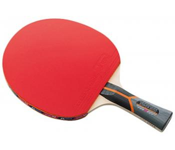 Butterfly Stayer 3000 Shakehand FL Table Tennis Racket with Rubber and 2 Balls