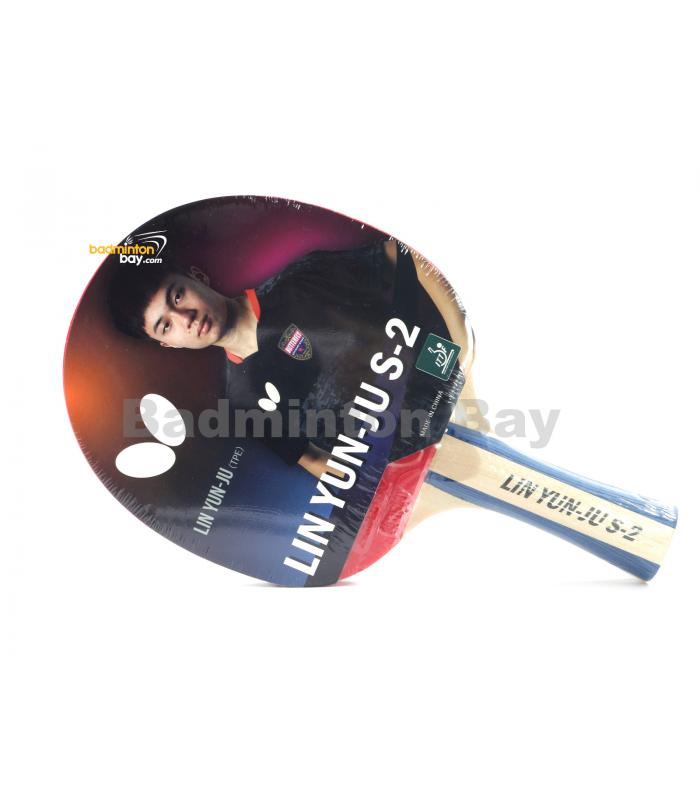 Butterfly Lin Yun-Ju S-2 Shakehand Table Tennis Wood Racket Preassembled With Rubber