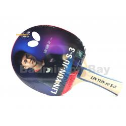 Butterfly Lin Yun-Ju S-3 Shakehand Table Tennis Wood Racket Preassembled With Rubber