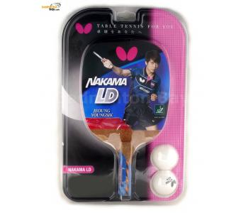 Butterfly Nakama LD Penhold Table Tennis Wood Racket Preassembled With Rubber