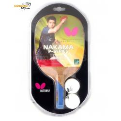 Butterfly Nakama P-10 Penhold Table Tennis Wood Racket Preassembled With Rubber
