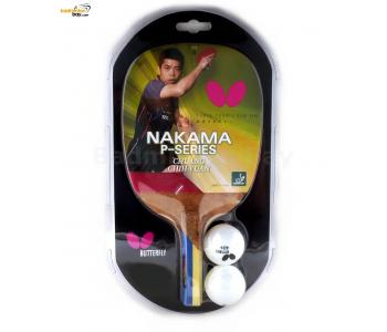 Butterfly Nakama P-9 Penhold Table Tennis Wood Racket Preassembled With Rubber