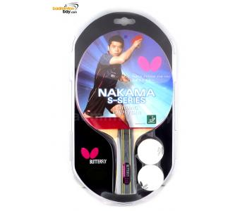 Butterfly Nakama S-10 FL Shakehand Table Tennis Wood Racket Preassembled With Rubber