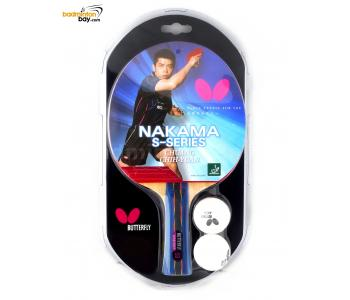 Butterfly Nakama S-9 FL Shakehand Table Tennis Wood Racket Preassembled With Rubber