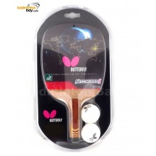 Butterfly Nitchugo-I Penhold Table Tennis Wood Racket Preassembled With Rubber
