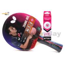 Butterfly RDJ-S1 FL Shakehand Table Tennis Racket Ping Pong Bat With A40 Balls