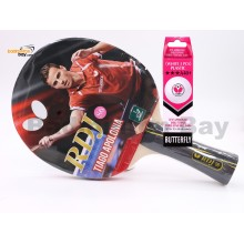 Butterfly RDJ-S6 FL Shakehand Table Tennis Racket Ping Pong Bat With A40 Balls