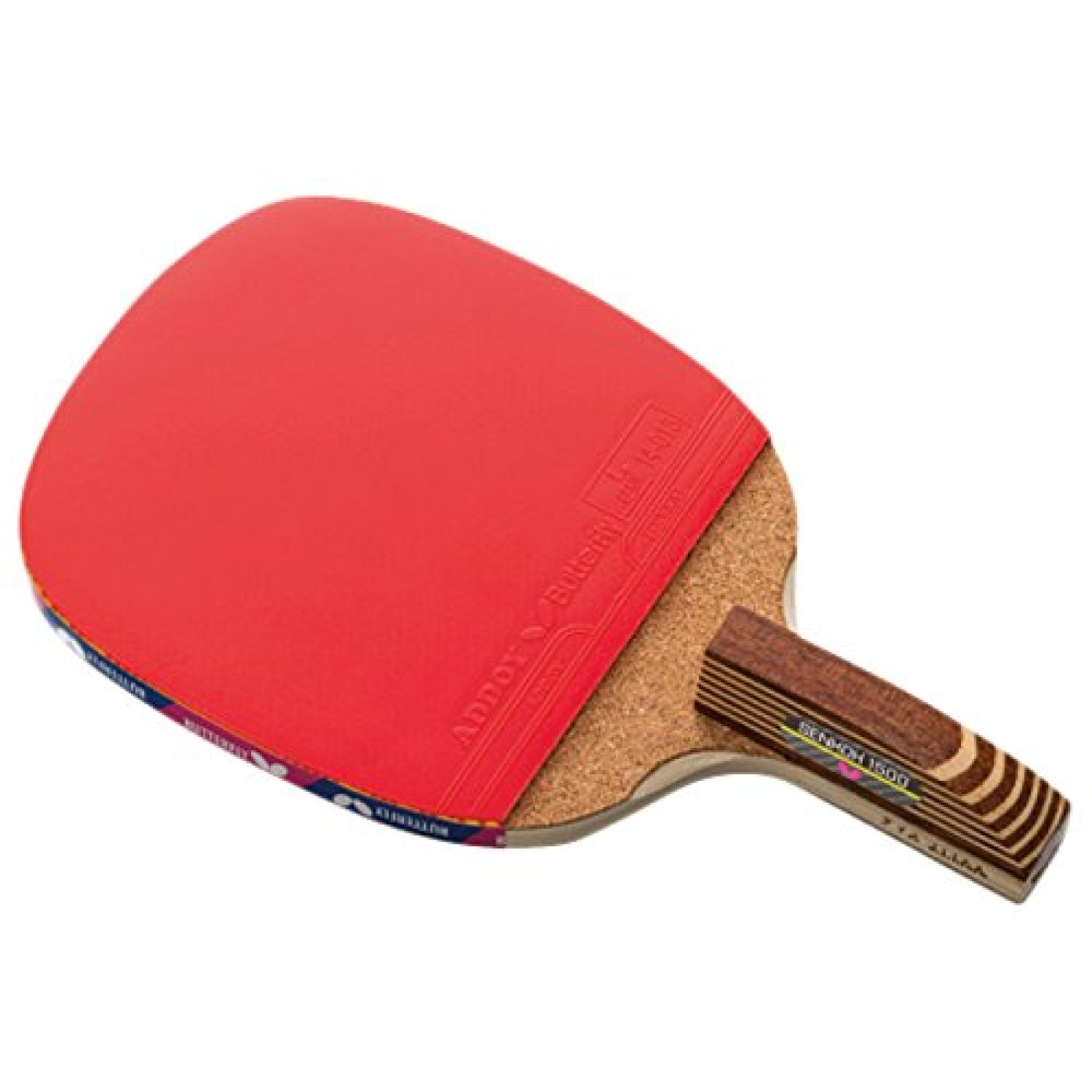 Butterfly Senkoh 1500 Penhold Table Tennis Racket with Rubber and 2 ...