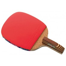 Butterfly Senkoh 1500 Penhold Table Tennis Racket with Rubber and Brown Handle
