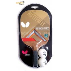 Butterfly Senkoh 2000 Penhold Table Tennis Racket with Rubber and Black Handle (One Side Rubber)