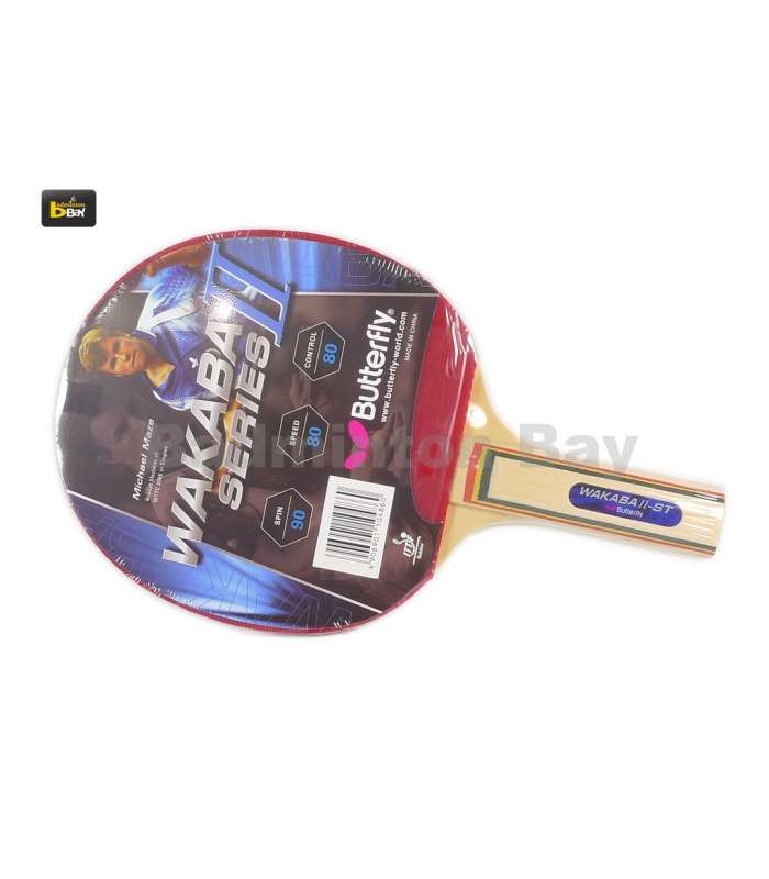 ~Out of stock   Butterfly Wakaba II ST Shakehand Table Tennis Racket