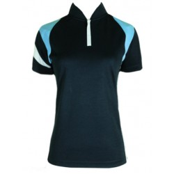 Fleet Ladies Collar Dri Fit FT LD 5007 Navy Blue T-Shirt Jersey