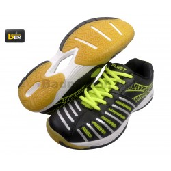 Fleet FT BS 868 Badminton Court Shoes (Unisex) Black Green Badminton Shoes