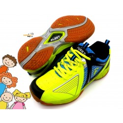 Fleet FT BS 27 Lime Green Blue Badminton Court Shoes For KIDS