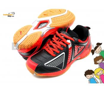 Fleet FT BS 28 Red Black Badminton Court Shoes For KIDS