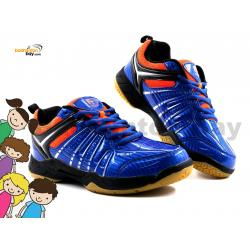 Felet - FT BS 33 Royal Blue Orange Badminton Court Shoes For KIDS