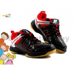 Felet - FT BS 34 Black Red Badminton Court Shoes For KIDS