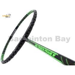 Fleet High Tension Frame 12 Metallic Black With Green Stripes Badminton Racket (4U)