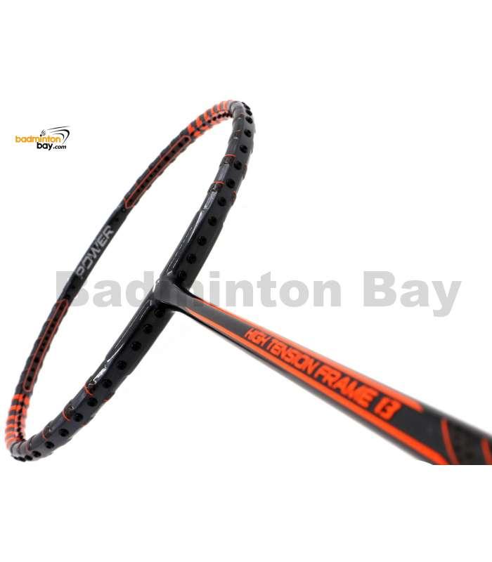 Fleet High Tension Frame 13 Metallic Black With Orange Stripes Badminton Racket (4U)