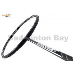 Fleet High Tension Frame 9 Black With Silver Stripes Badminton Racket (4U)