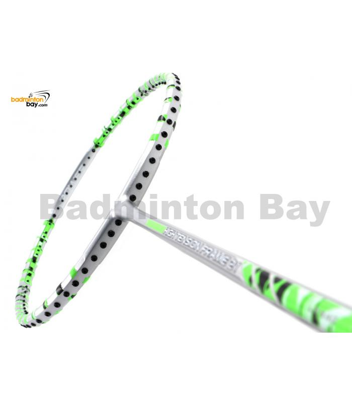 Felet High Tension Frame 21 Silver With Green Stripes Badminton Racket (3U)