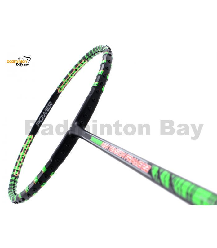 Felet High Tension Frame 22 Black With Green Stripes Badminton Racket (3U)