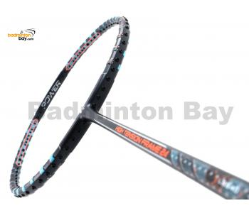 Felet High Tension Frame 24 Black With Blue Stripes Badminton Racket (3U)