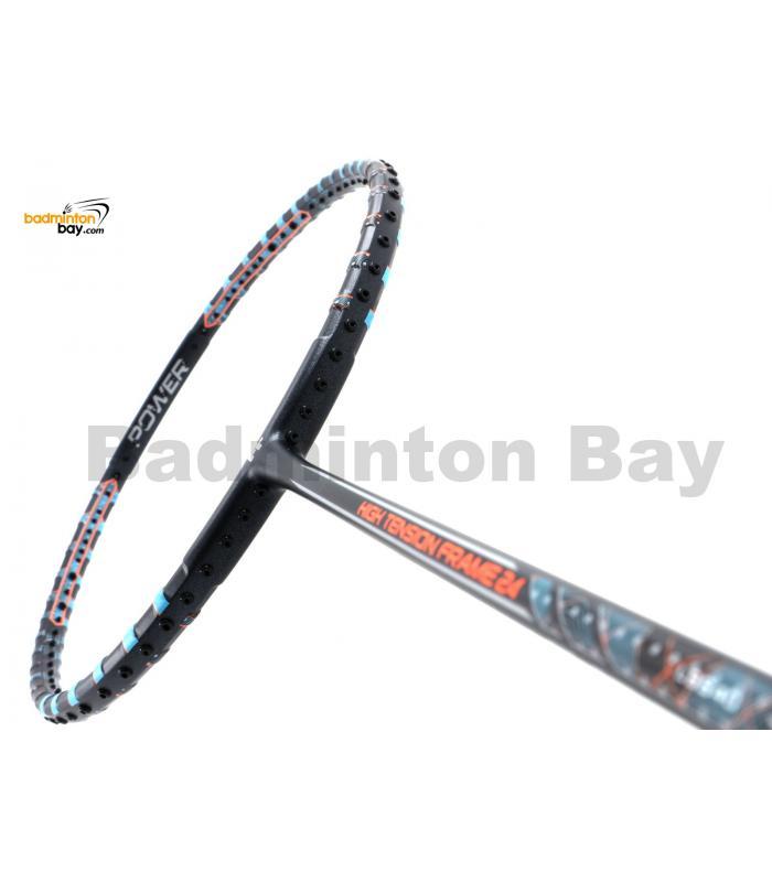 Felet High Tension Frame 24 Black With Blue Stripes Badminton Racket (3U)