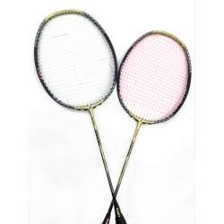 40% off 2 pieces Fleet X Force Gold Compact Frame Badminton Racket (3U) Strung with Yonex and Apacs strings @ 24 lbs