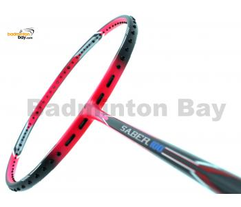 Flex Power Saber 100 Black Pink Badminton Racket (4U)