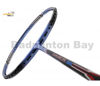 Flex Power Saber 100 Black Purple Badminton Racket (4U)