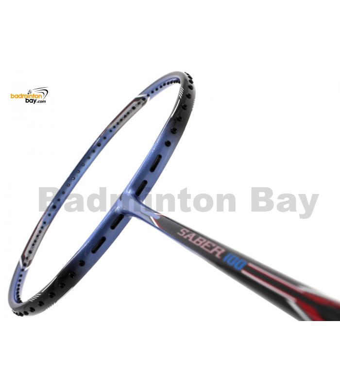 Flex Power Saber 100 Black Purple Badminton Racket (4U)