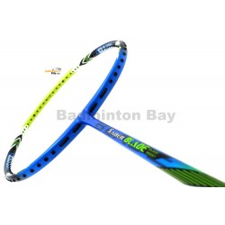 25% OFF Flex Power Saber Blade Blue Green Badminton Racket 4U Strung with Yellow Yonex BG65 String @ 26 lbs