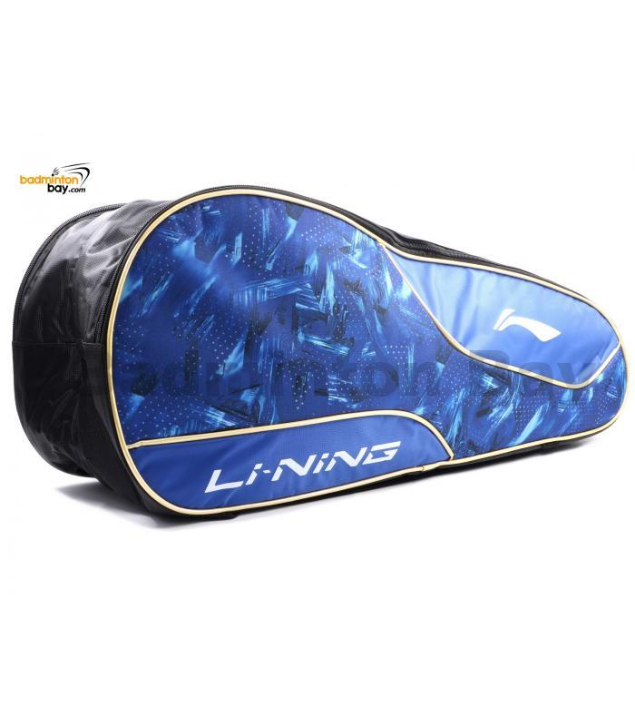 Li Ning 2 Compartments Thermal Badminton Racket Bag ABDN238-1 Blue