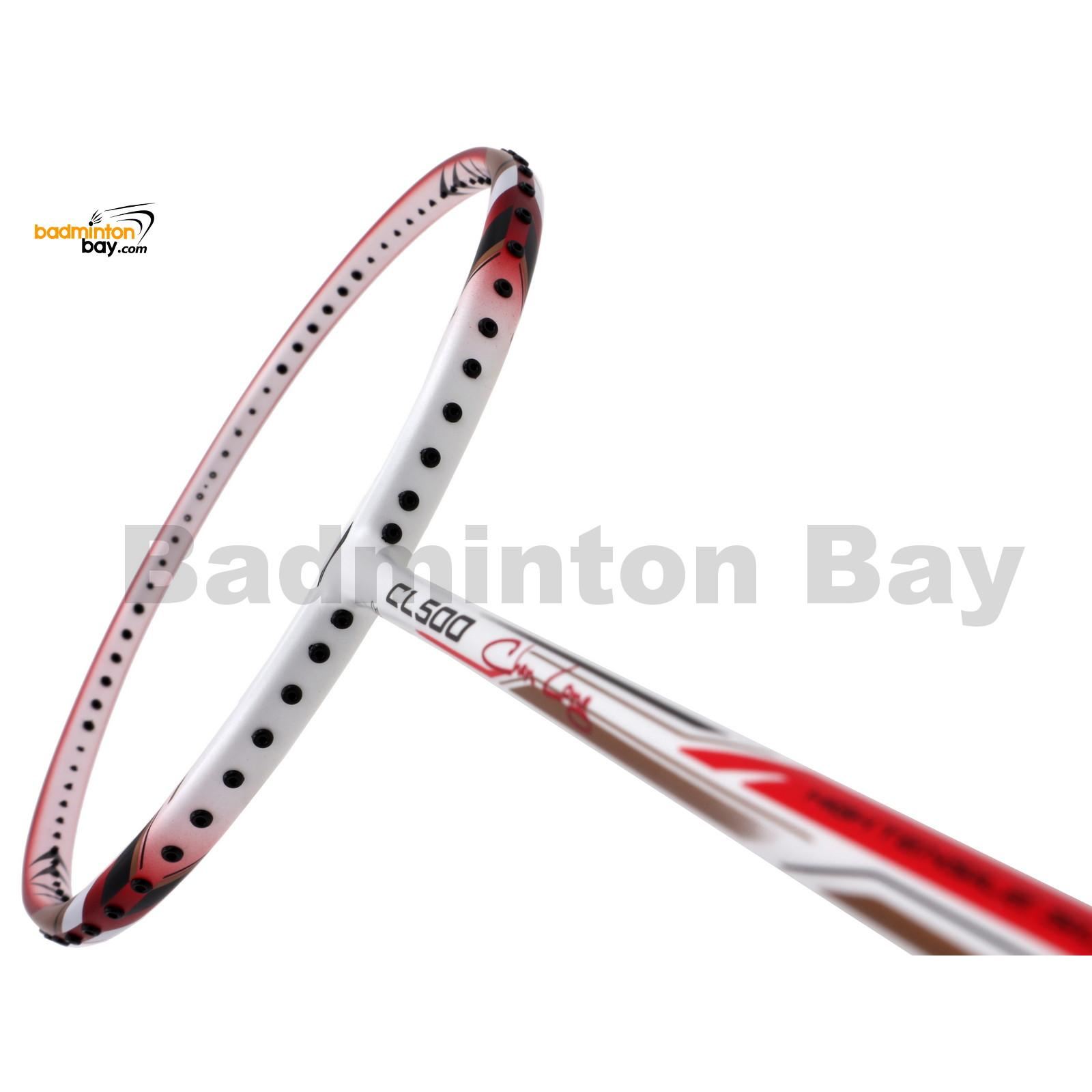 a8074f6f3 Li-Ning Chen Long CL 500 Red White Badminton Racket 3U (W3-S2)