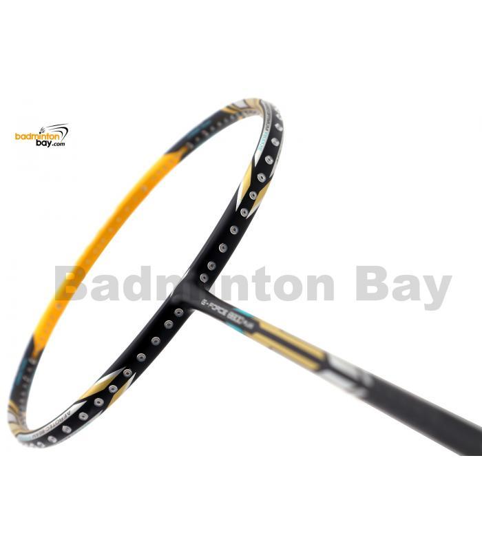 Li-Ning Pro Master Extra Strong G-Force 8800 Plus Black Yellow Badminton Racket 4U (W3-S1)