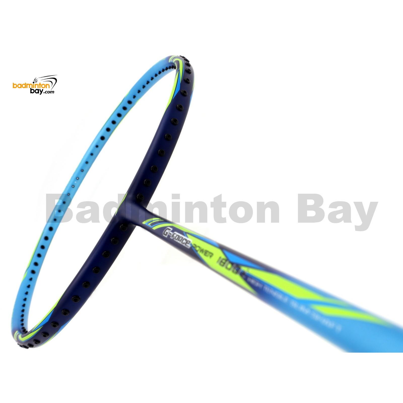 li ning g force power 1800i blue green badminton racket 3u w3 s2