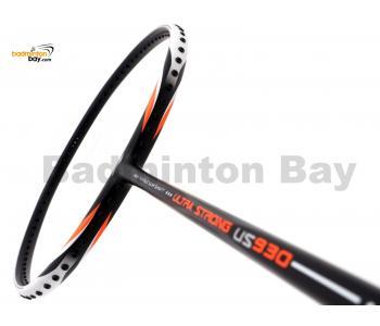 Li-Ning Ultra Strong US930 Black White Badminton Racket 4U (W2-S2)