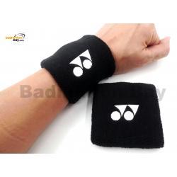 Yonex Sports Wrist Band AC482EX - Navy Black (1 pair) for Sweat Absorption