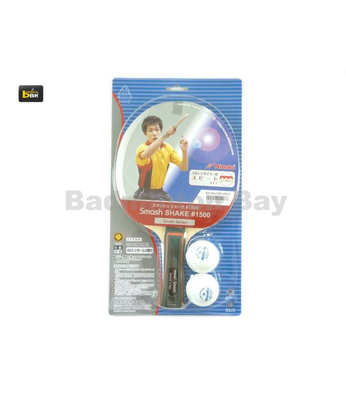 ~ Out of stock  Nittaku Smash Shake 1500 FL Shakehand Table Tennis Racket with 2 balls