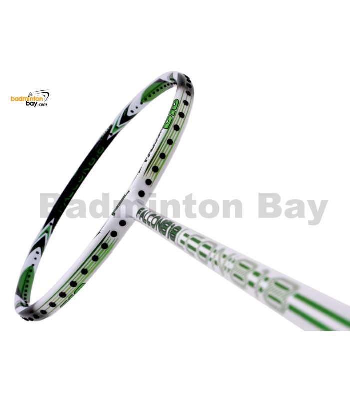RSL Falcon 818 White Chrome Green Badminton Racket (4U-G5)