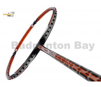 RSL Falcon 828 Orange Black Chrome Silver Badminton Racket (4U-G5)