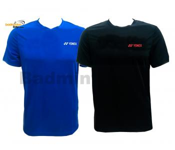 2 Pieces - Yonex - Round Neck Small Logo T-Shirt Quick Dry Sports Jersey Dry Fast RM-S092-1018A Black And Blue Small Logo