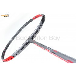 Yonex DUORA 77 Black Red & Grey  Badminton Racket DUORA-77 (3U-G5) Strung with Black Apacs Lethal 66 Offensive String @ 23 lbs