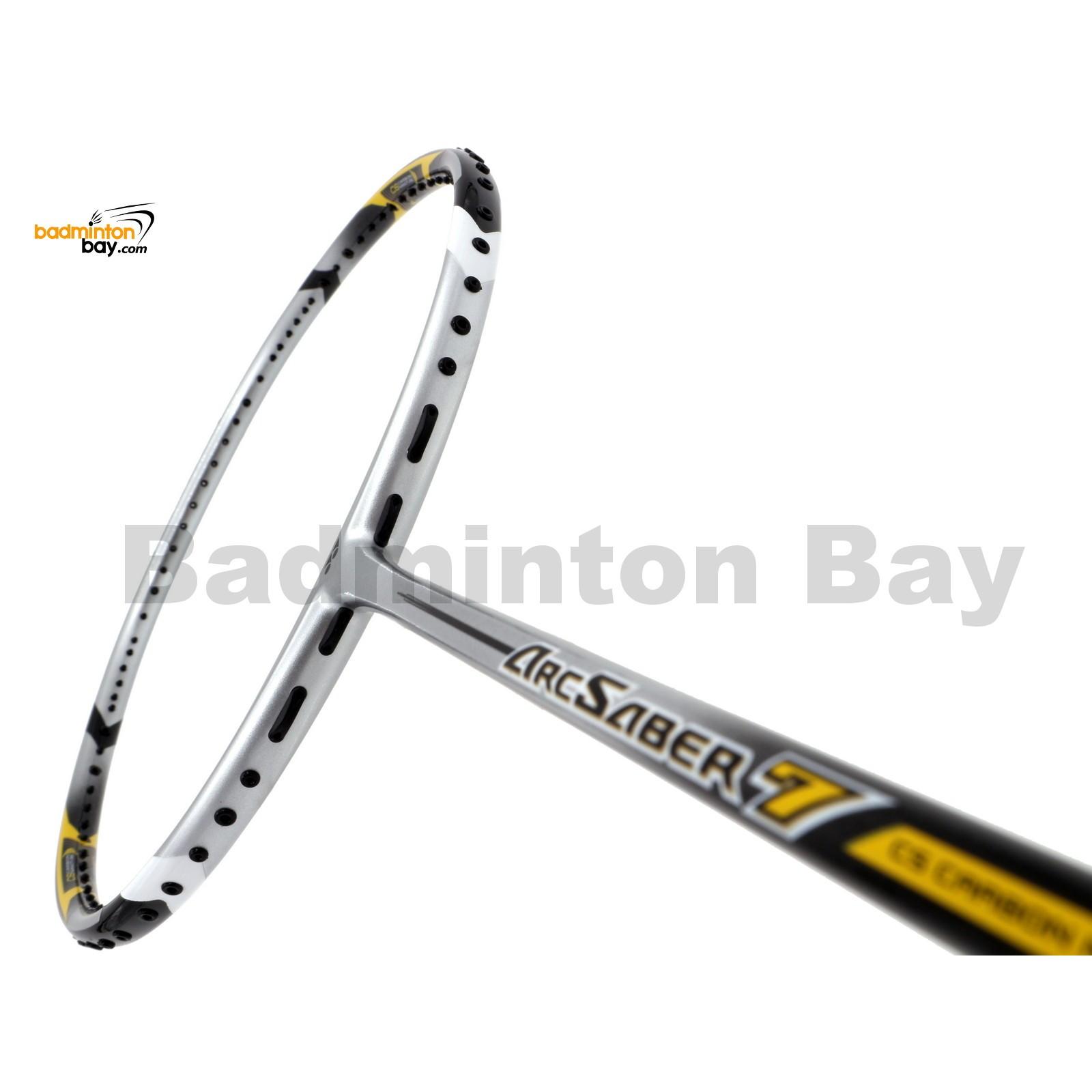 Yonex Arcsaber 7 Silver Yellow Badminton Racket Arc7 3u G5