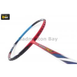 Yonex ArcSaber FB Red Blue ( Strung with Apacs Stern Pro string ( Pink color string ) @ 23 lbs ) Badminton Racket ARC-FB SP (5U-G5)