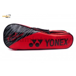 Yonex 3-Way 2 Compartments Padded Badminton Racket Bag BAG01BTHEX Red Taufik Hidayat Signature