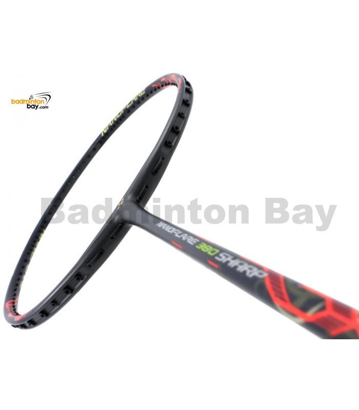 Yonex Nanoflare 380 Sharp Matte Black NF-380SH Badminton Racket  (4U-G5)